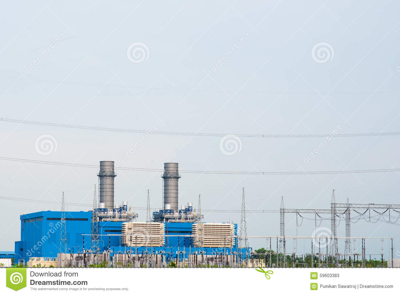 Electricity Post And High Voltage Electric Power Substation Stock Transformer Wiring Diagram Transformerscables Wires In
