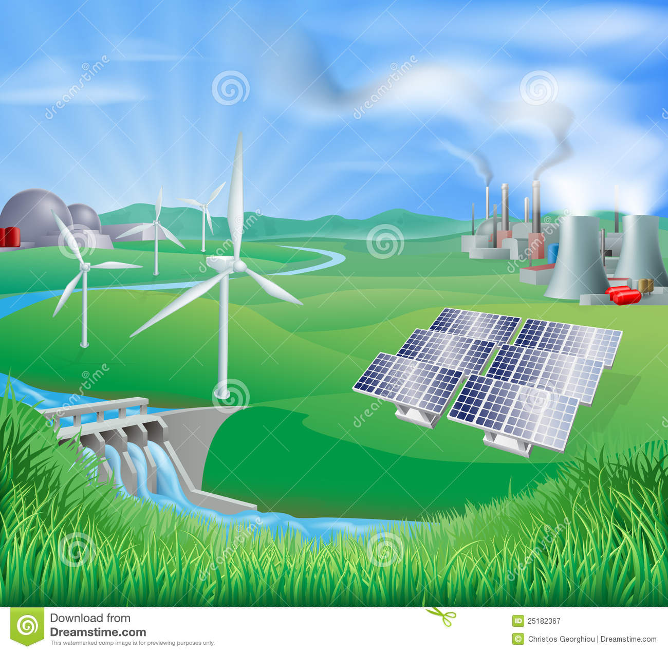 fuel or coal, and renewable energy or sustainable energy sources ...