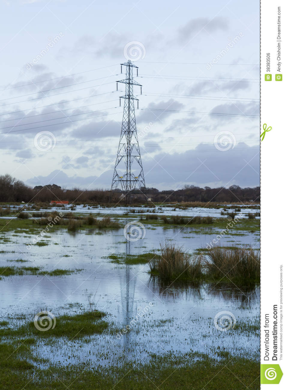 Electricity Pylon with reflection