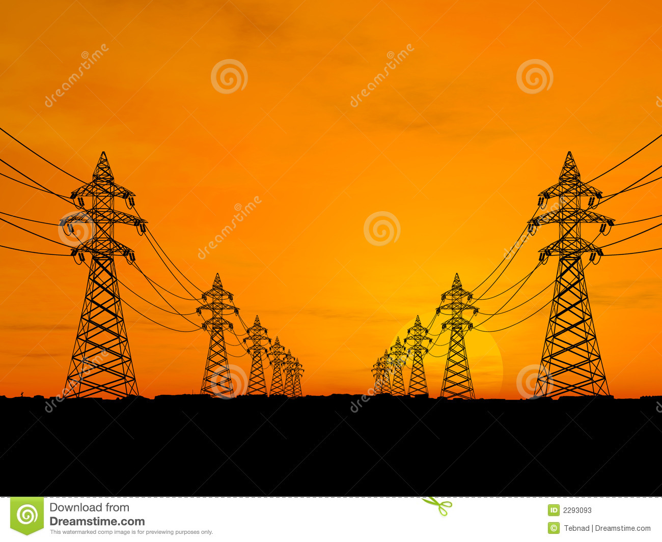 Electricity Pylons Stock Image Image Of Electron