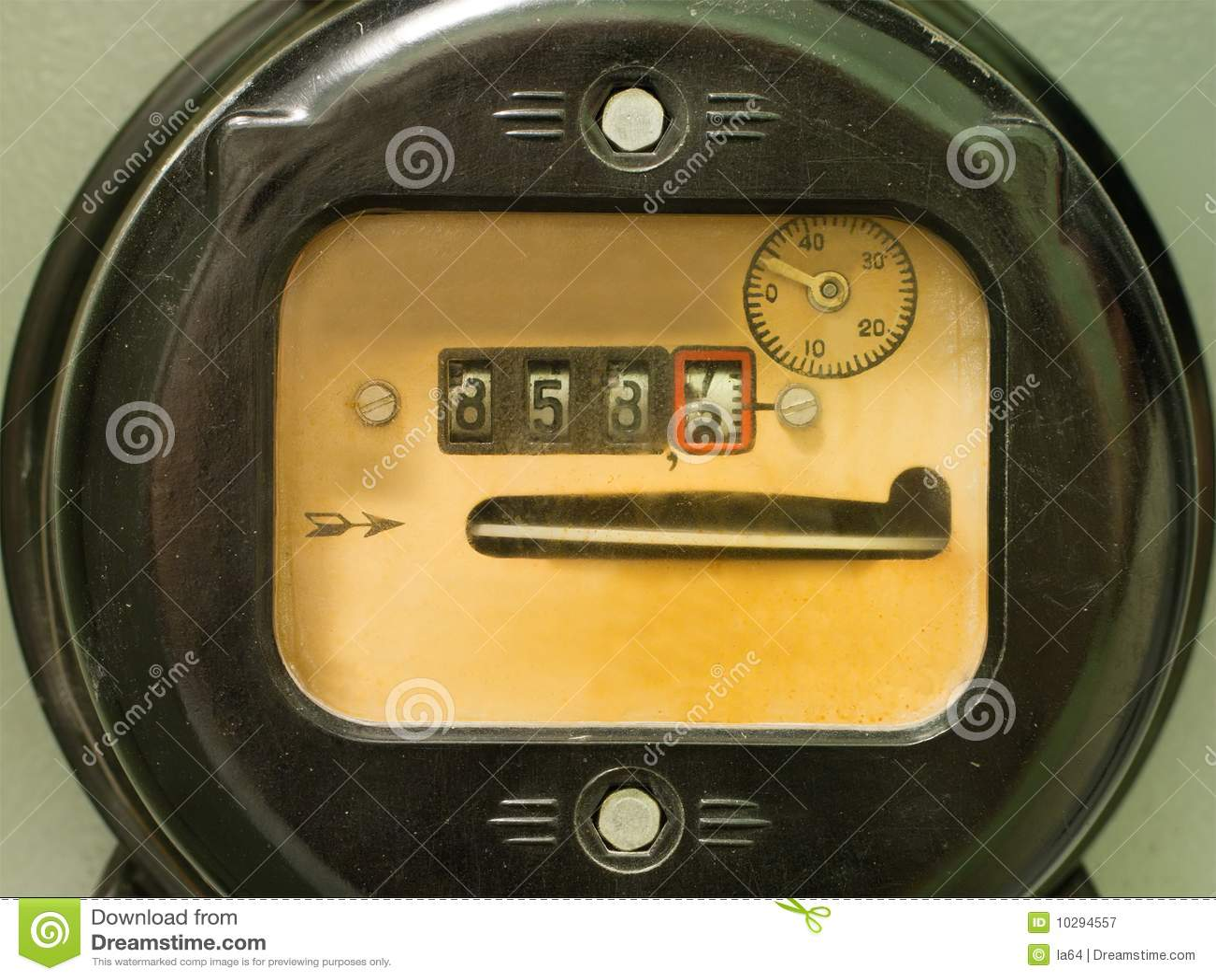 Power Meter Cartoon : Electricity supply meter royalty free stock photo