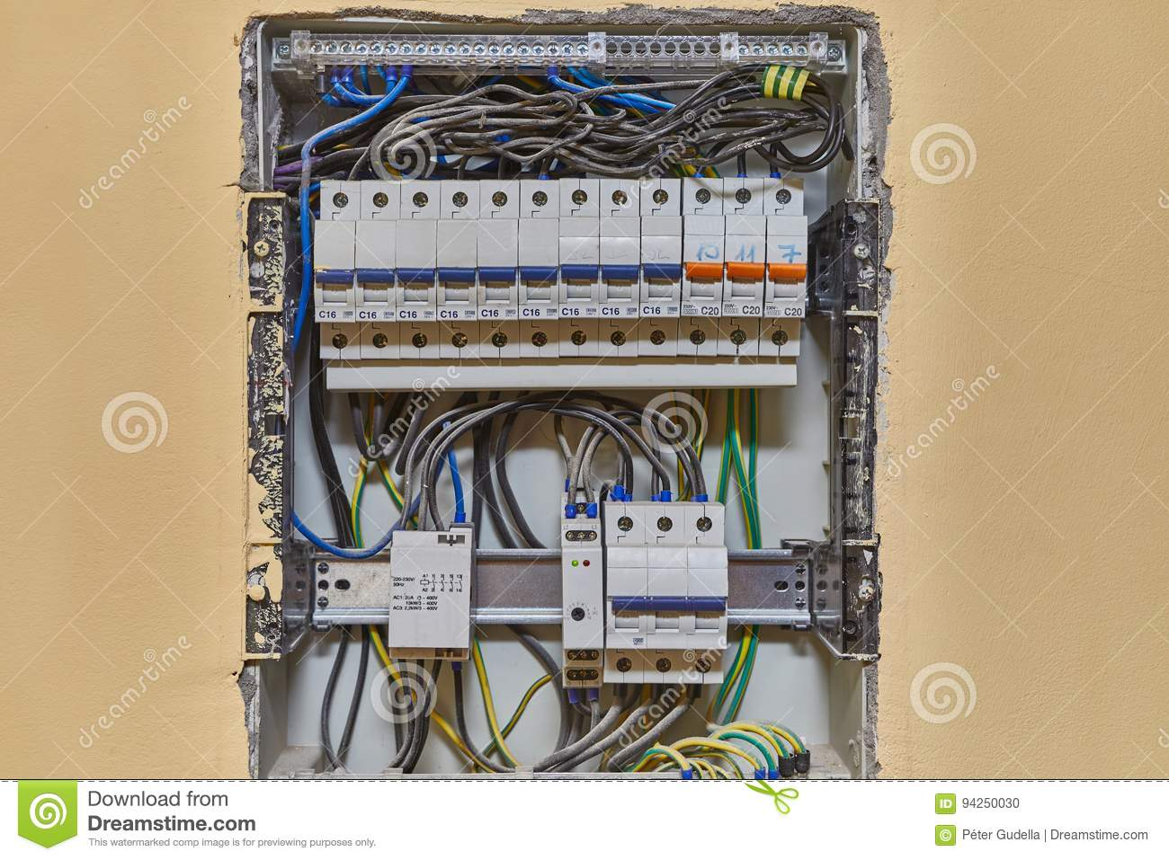 Electricity Switches And Wiring Stock Photo - Image of power, repair ...