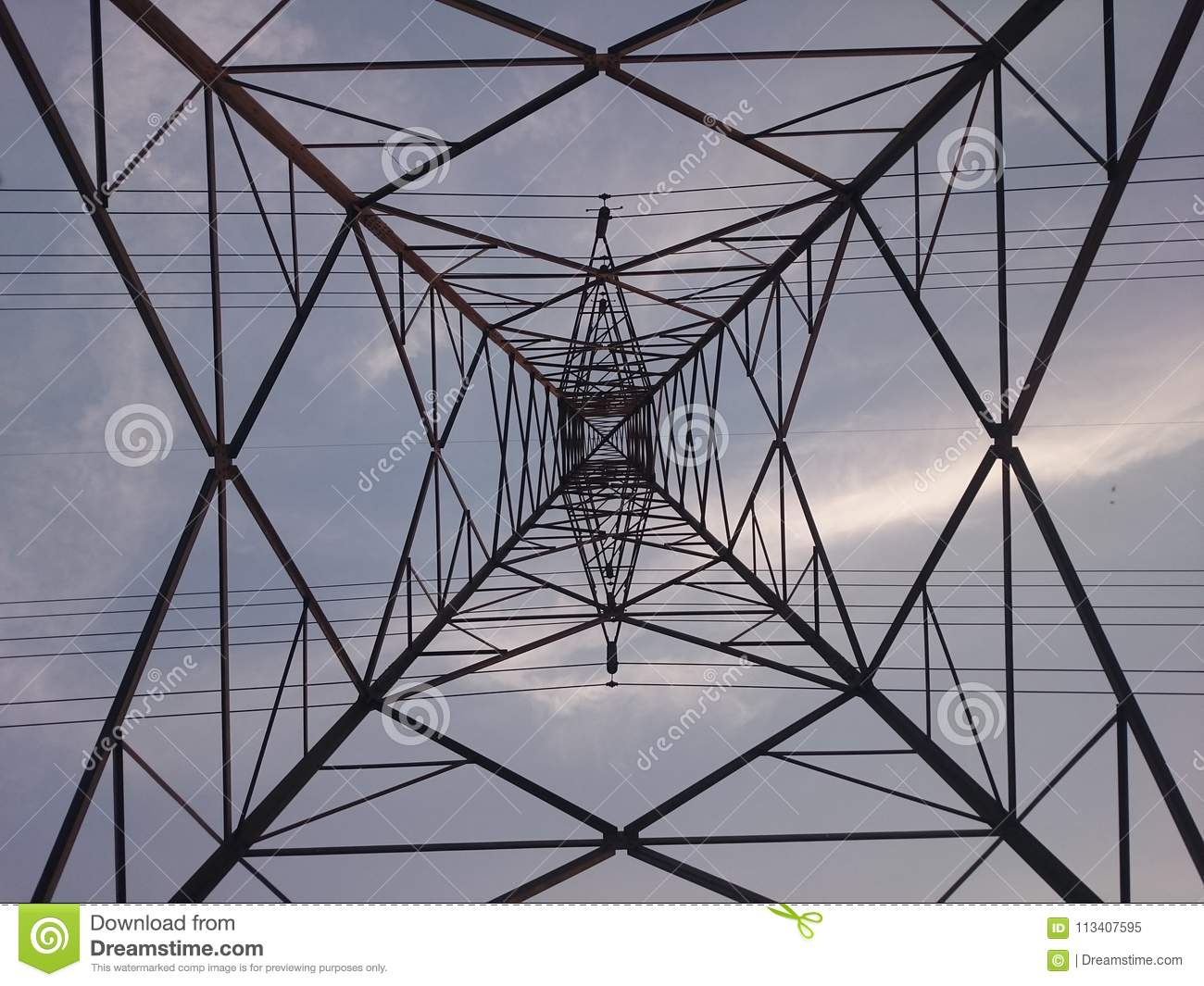 Electricity Tower stock image  Image of android, smartphone - 113407595