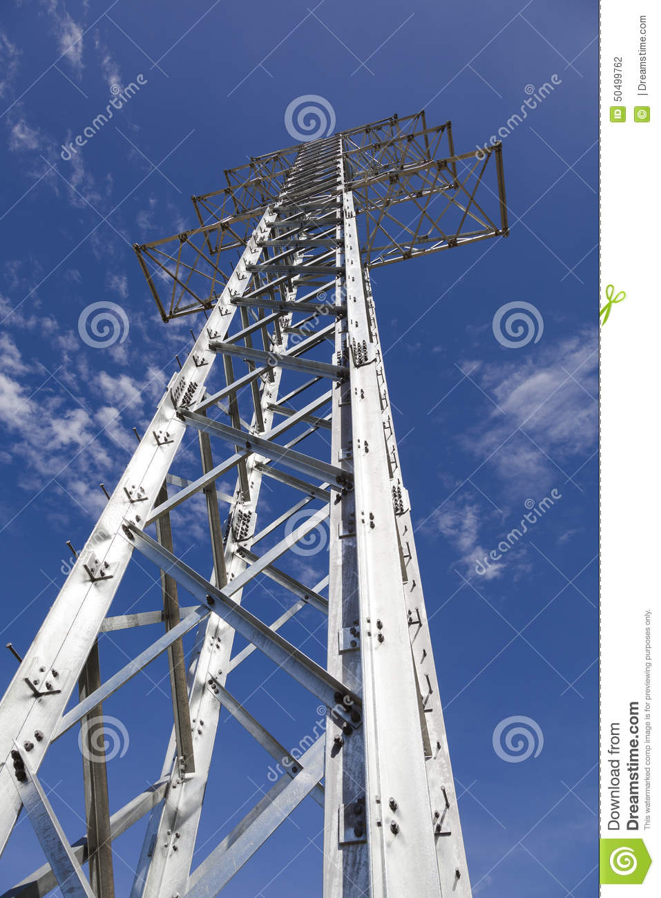 Electricity Transmission Towers Without Wires Stock Photo - Image of ...