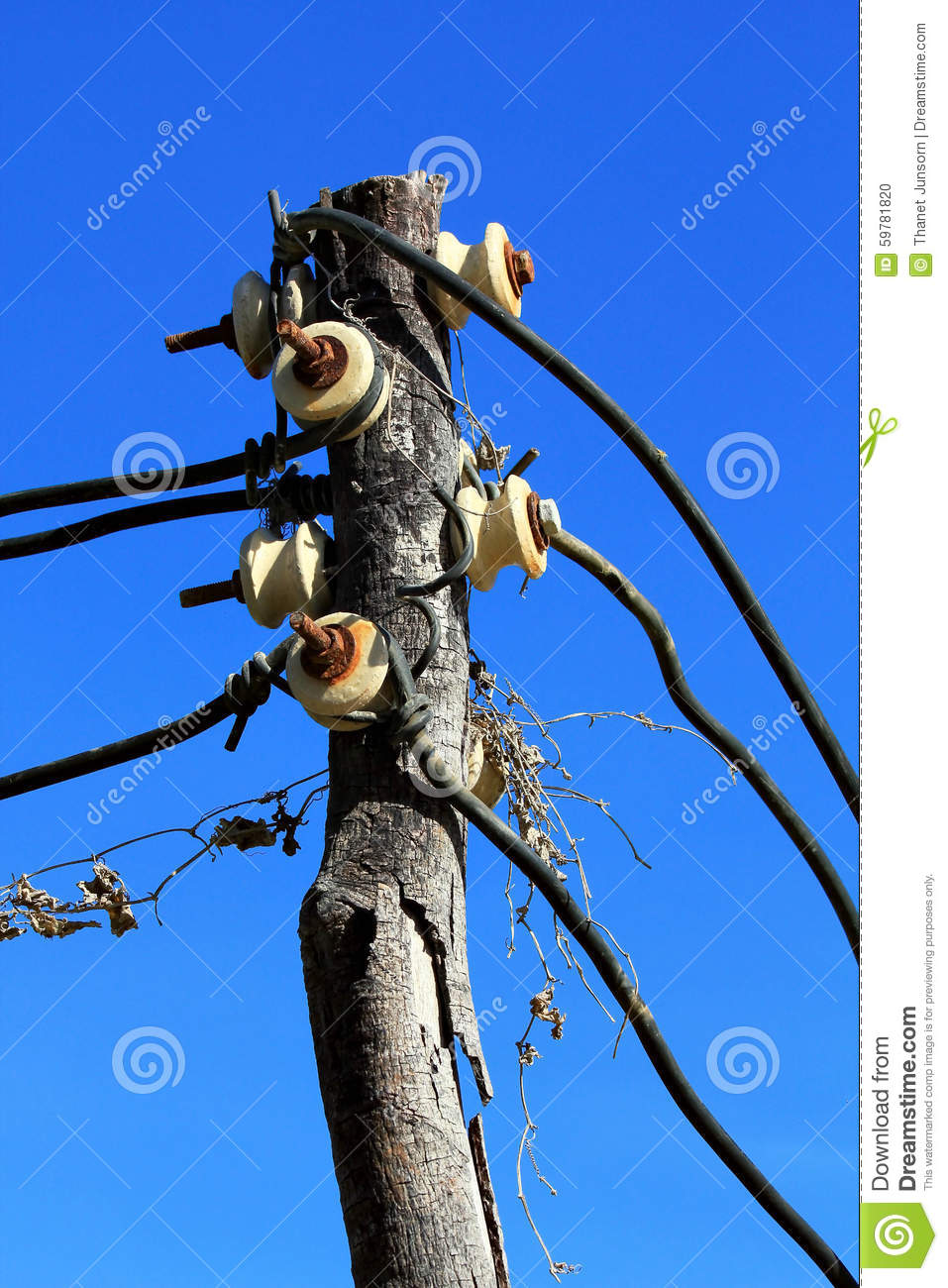 Electricity Trunk Post Stock Photo Image Of Pylon Lamp 59781820 Electrical Installation Wiring Pictures Electric Trunking