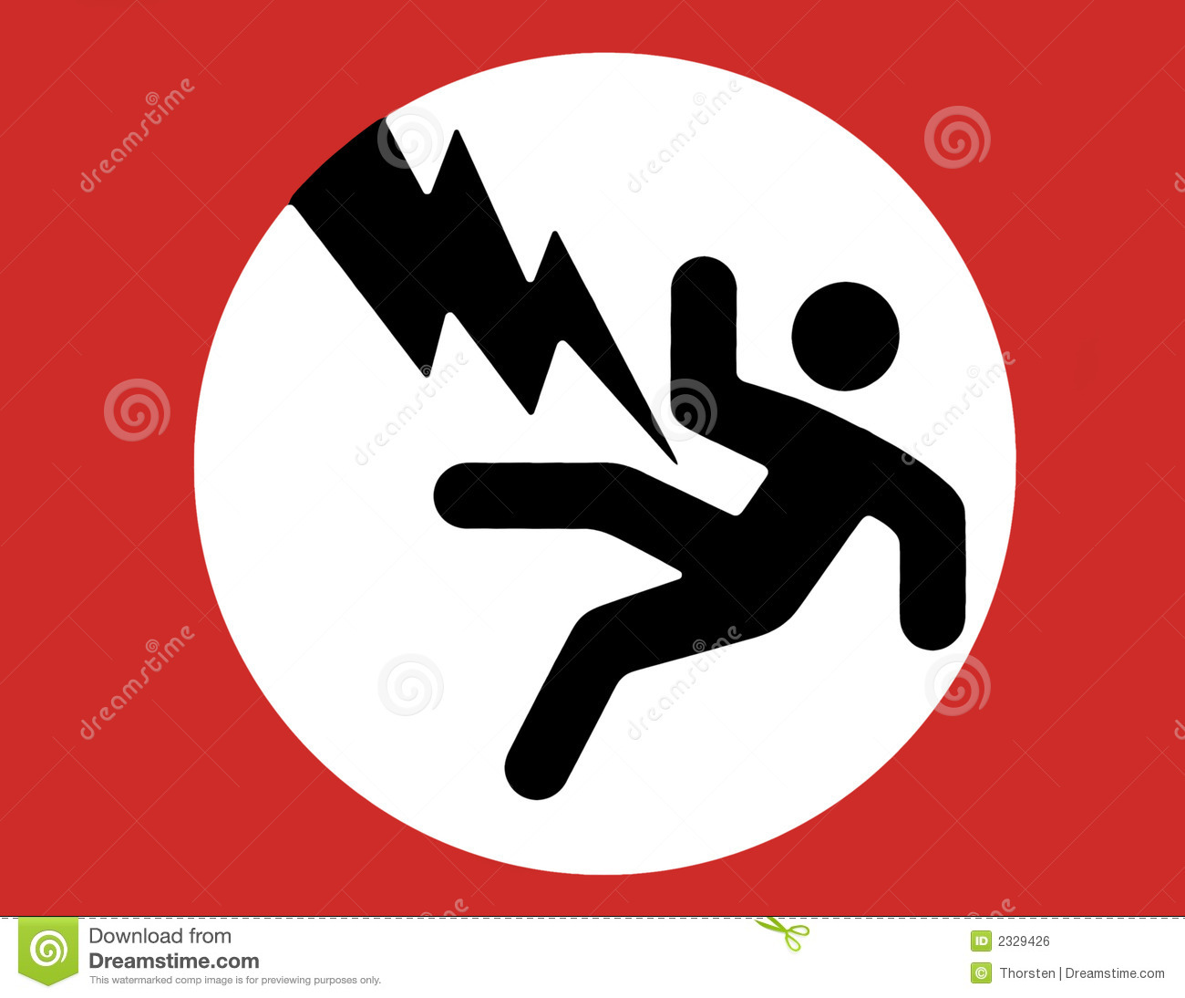 Electricity Warning Sign Stock Photo 2329426 Megapixl
