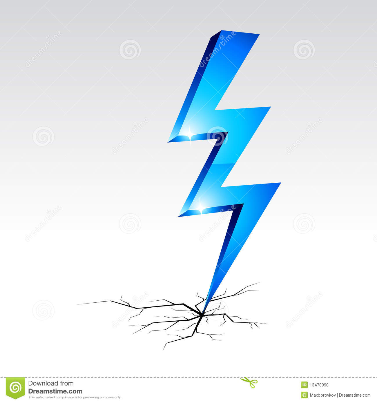 Electricity Warning Symbol. Stock Photo - Image: 13478990