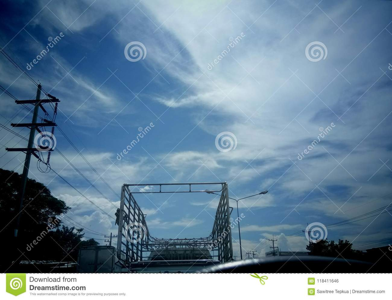 Electricity And Wire,blue Sky Stock Photo - Image of life, important ...