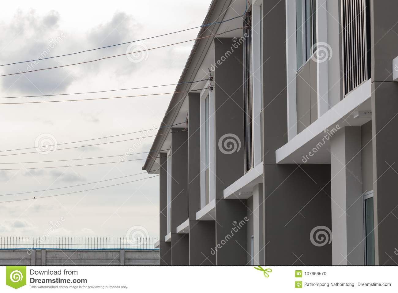 Electricity Wire Into The House Stock Photo - Image of danger, flame ...