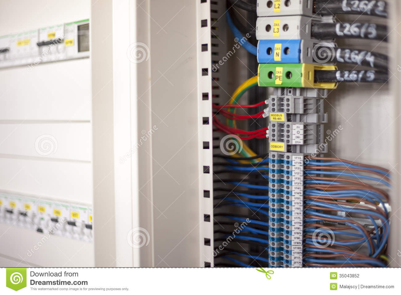 Electricity - Wires In A Control Panel Stock Photography - Image ...