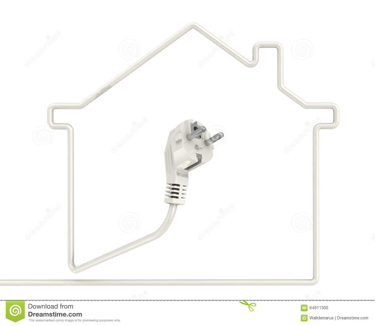 Electrification of the house concept stock illustration electrification of the house concept biocorpaavc Images