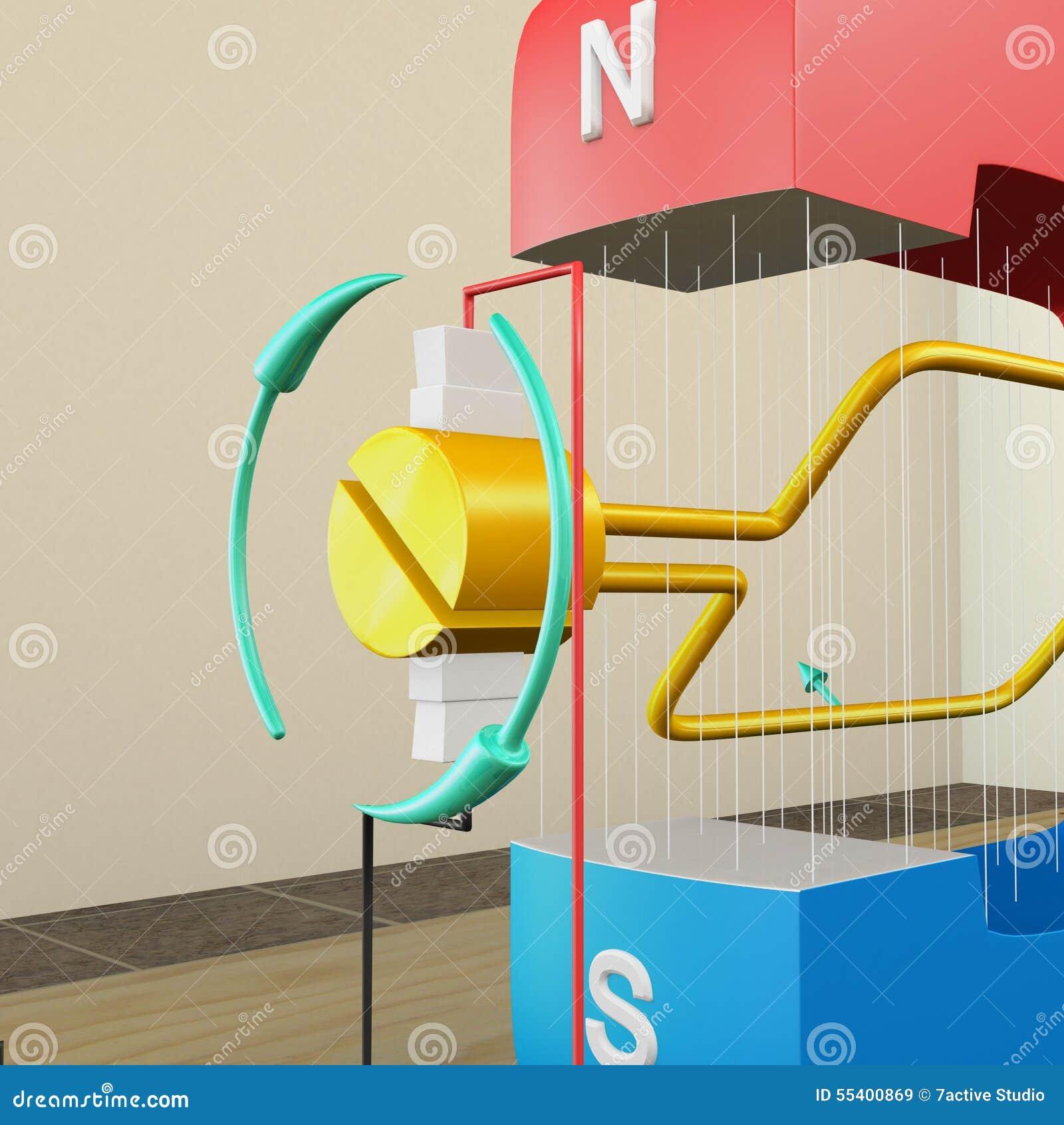 Electro Inducción Magnética Stock de ilustración - Ilustración de ...
