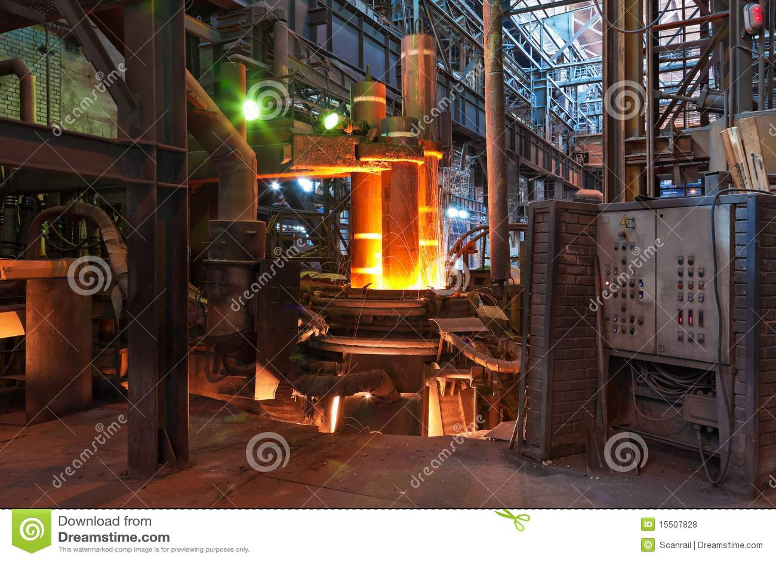Electroarc熔炉冶金工厂
