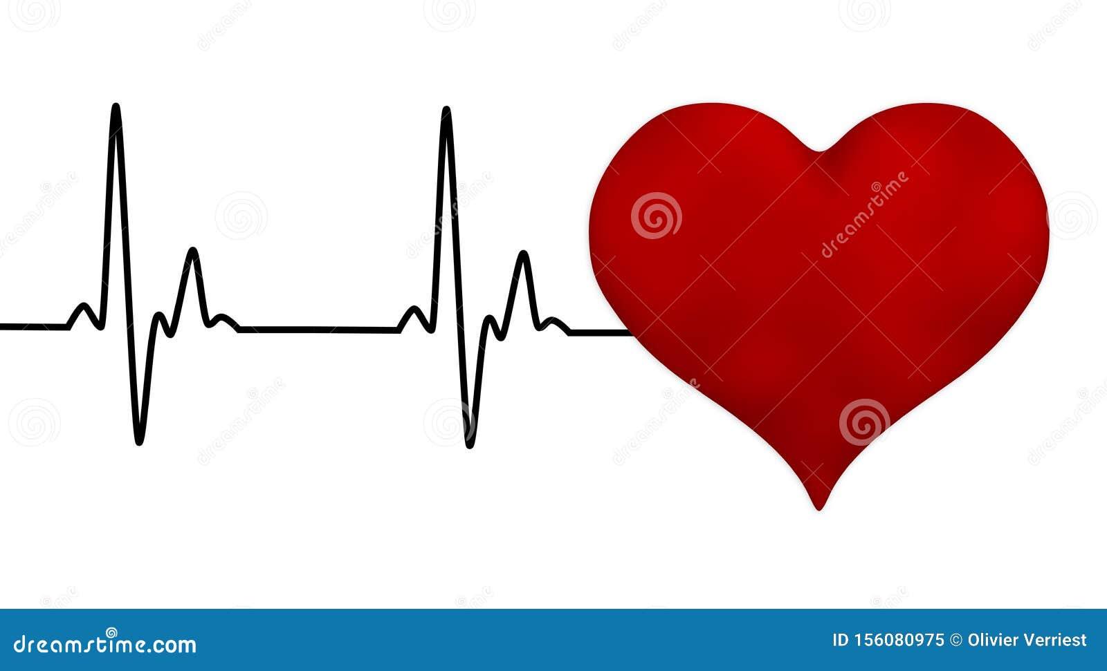 Electrocardiogram heartbeat pulse heart background
