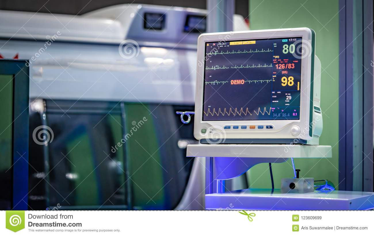 Electrocardiographic ECG Monitoring Device In Hospital
