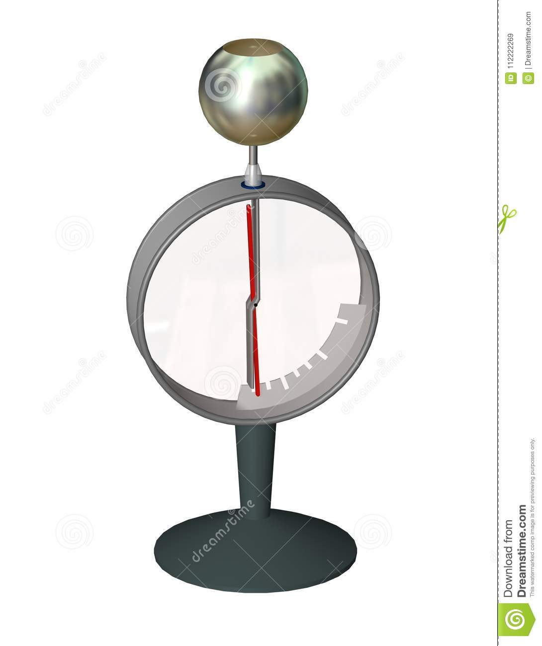 Science Physics Difference: An Electrometer. Electrical Instrument For Measuring