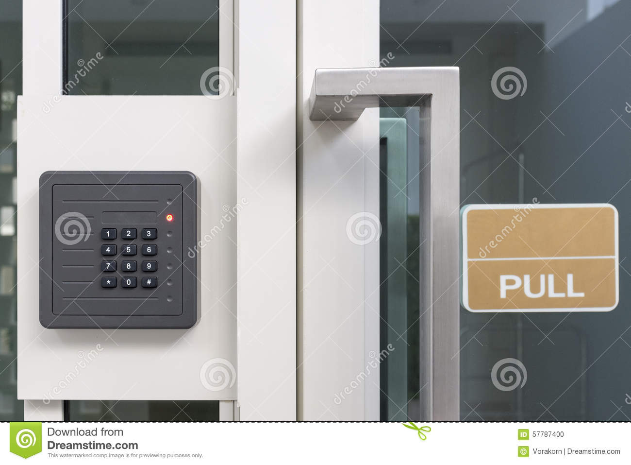 Access Control Doors : Electronic access control door box with numeric keypad