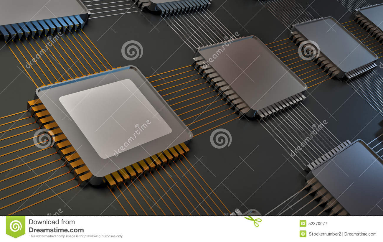 Electronic board and main chip