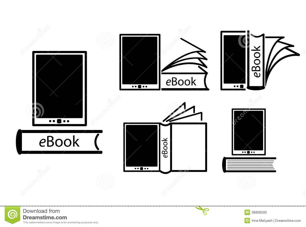 electronic book concept stock photos