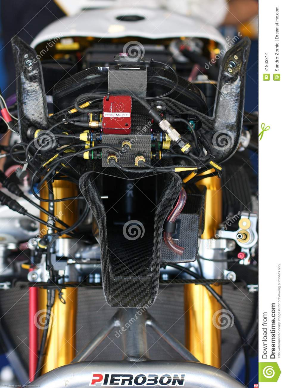 Electronic box and connection BMW S1000 RR Superbike WSBK