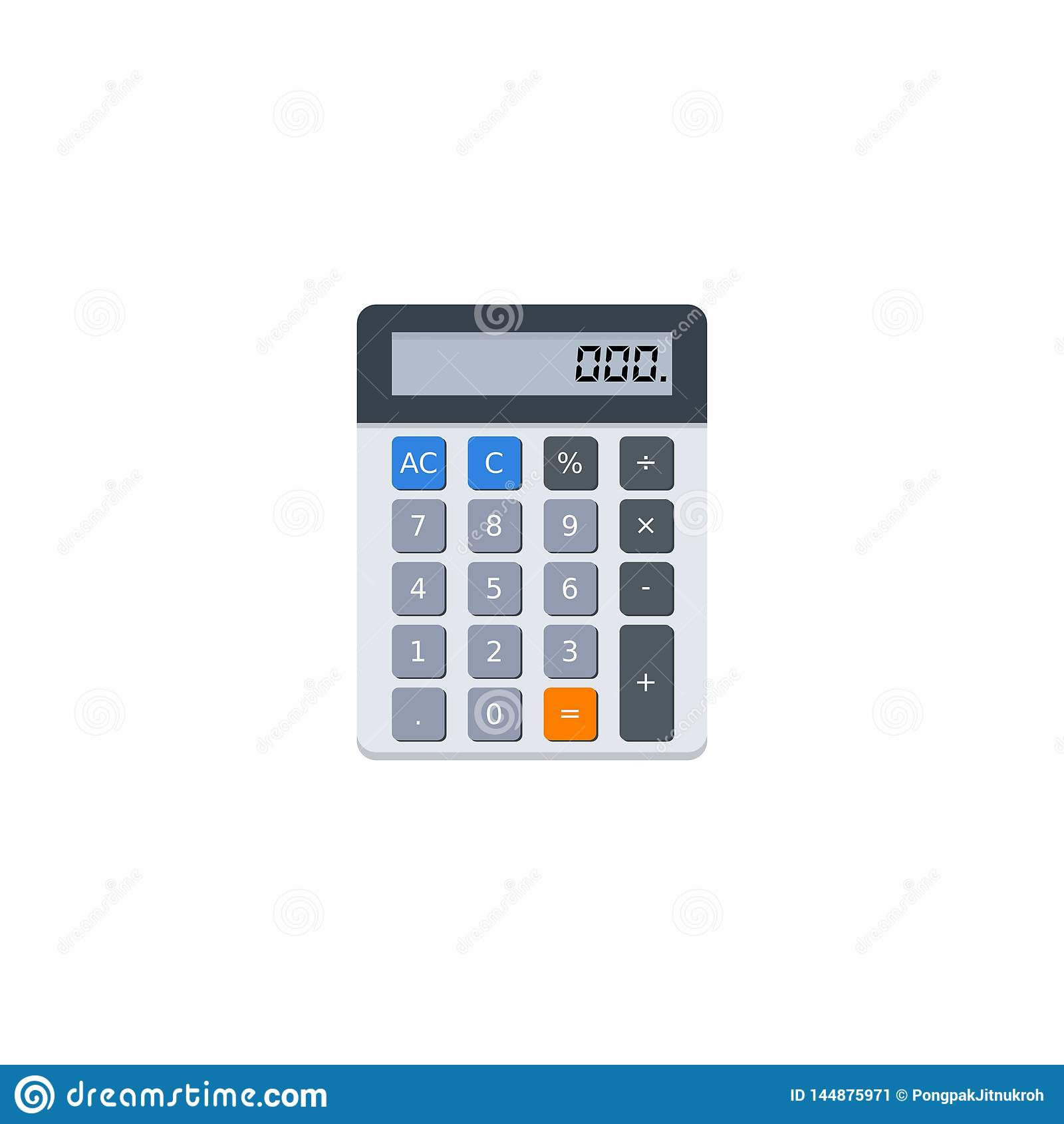 Electronic Calculator, Vector, Flat Icon Stock Vector - Illustration