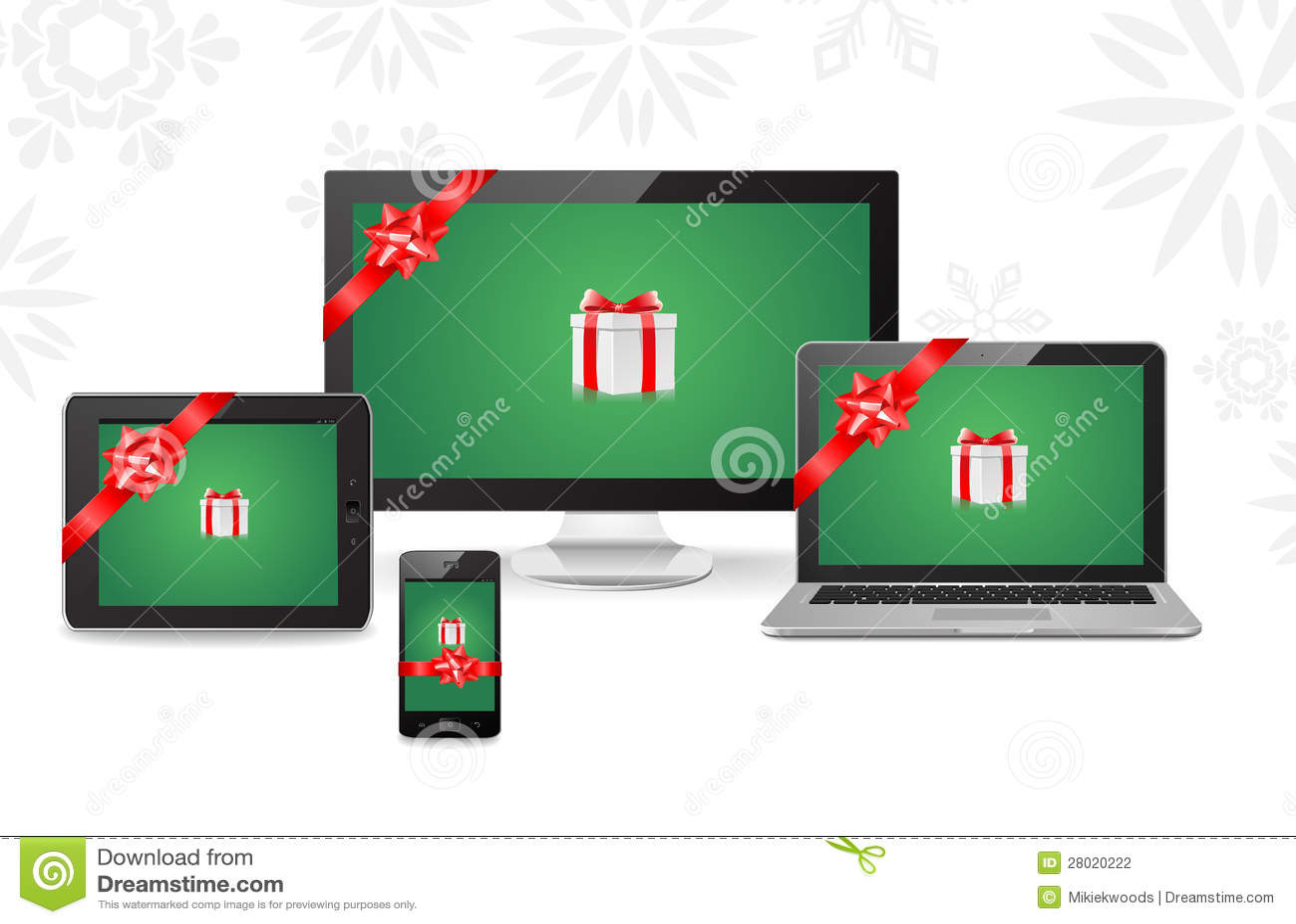 Electronic Christmas Gifts stock illustration. Illustration of ...