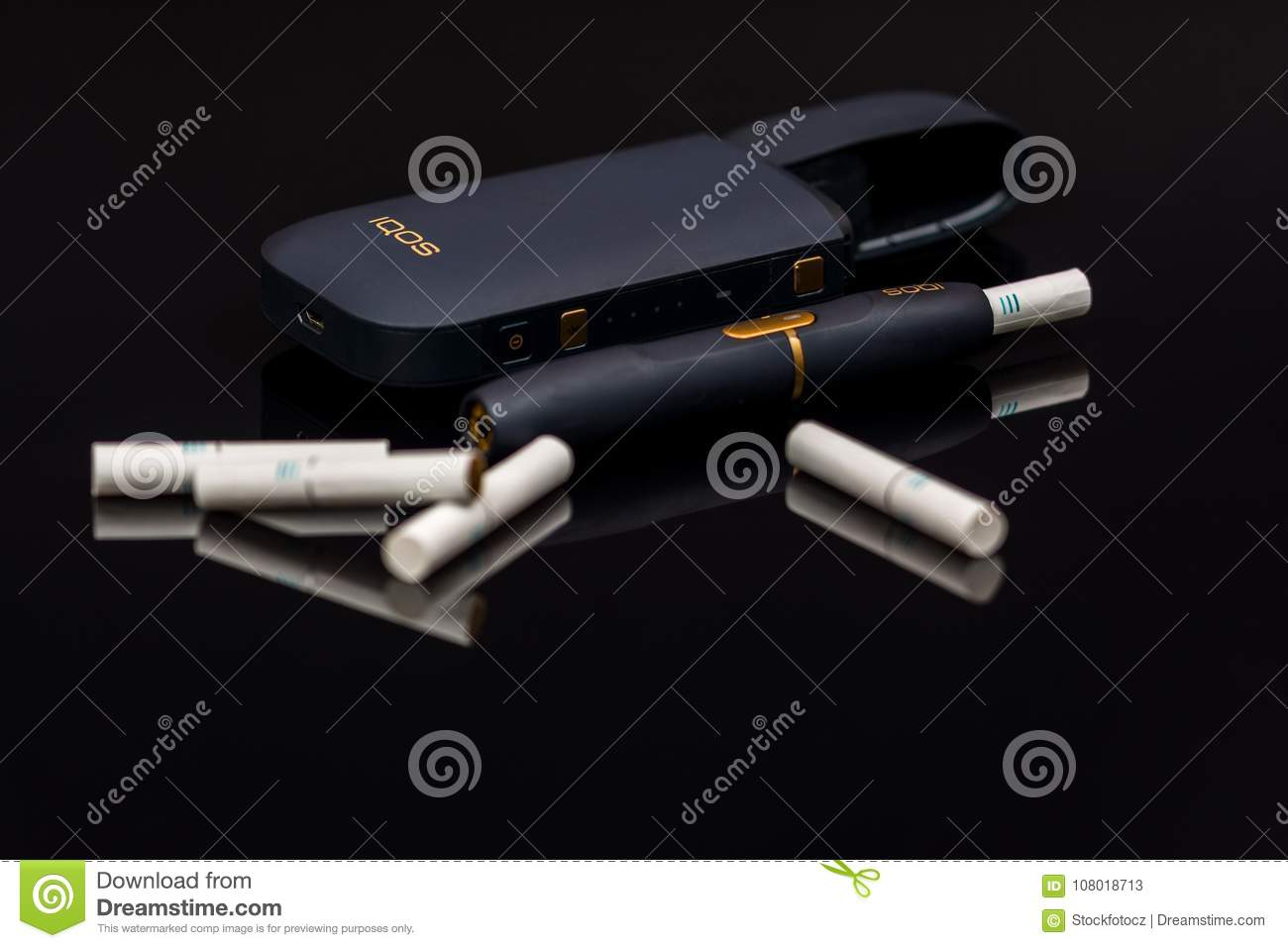 Electronic cigarette Iqos editorial stock photo  Image of