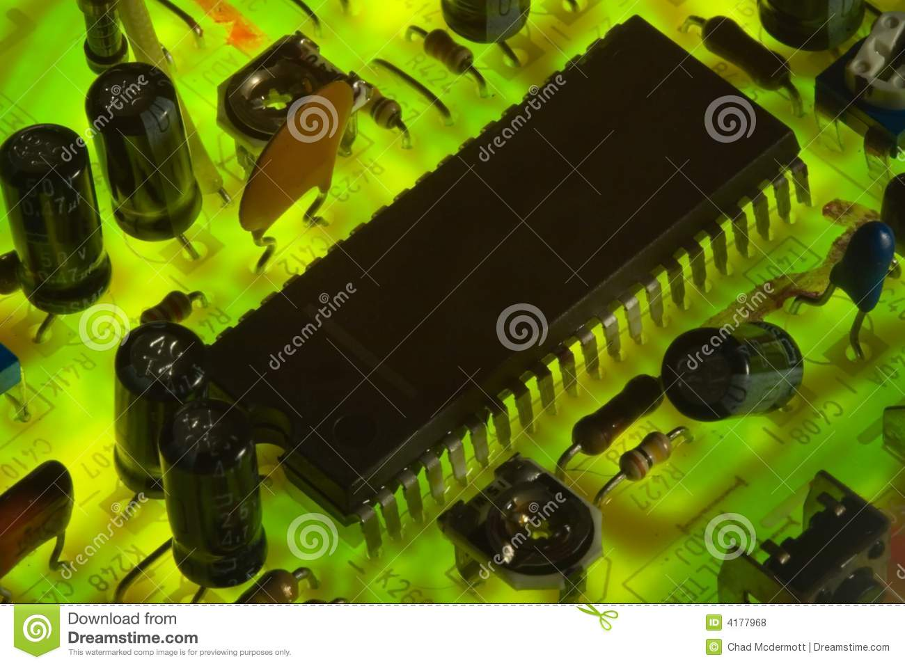 Electronic Circuit Board Stock Photo Image Of 4177968 Pics Photos Showing Wires And Microchips
