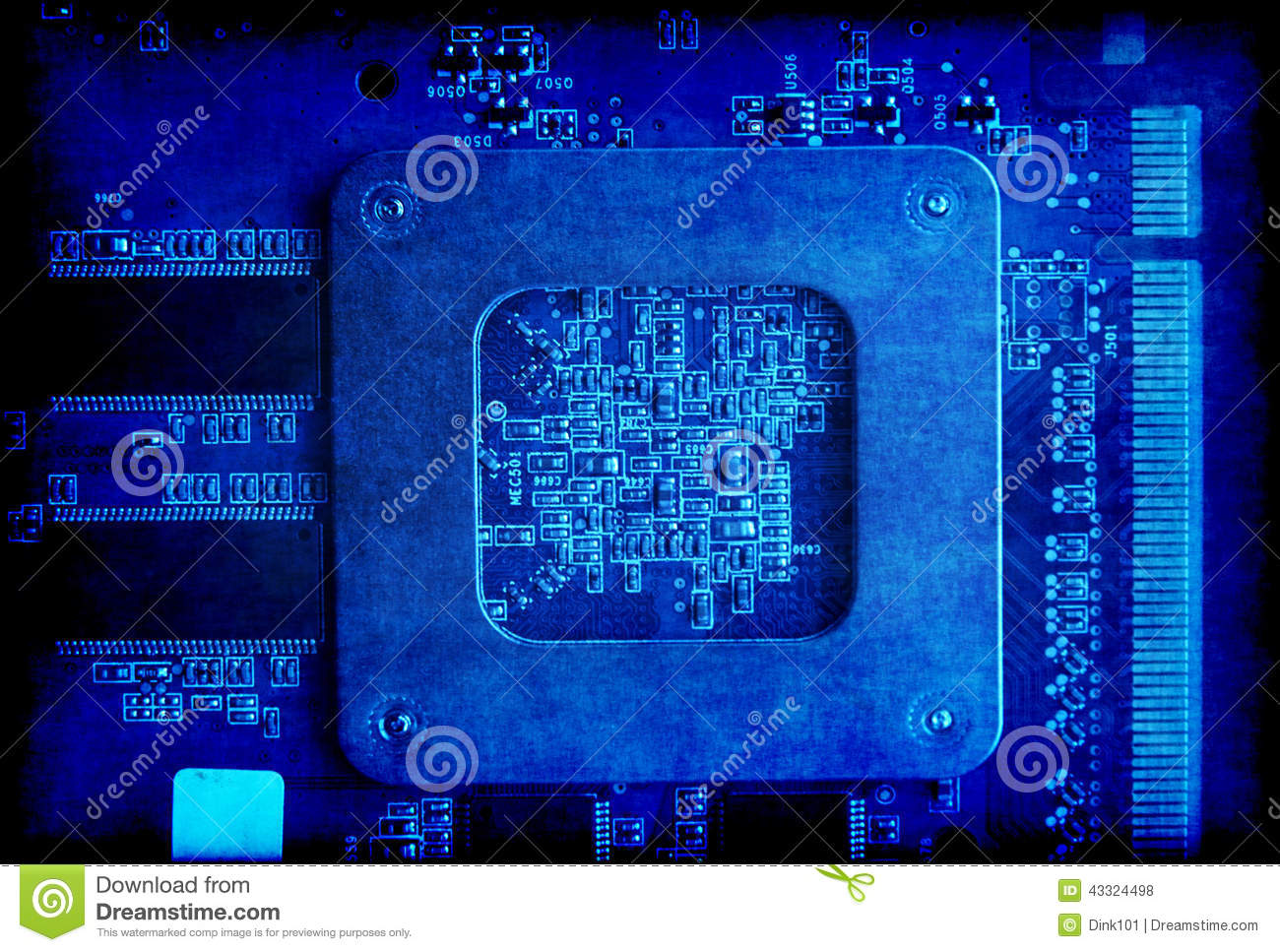 Electronic Circuit Board Blue Grunge Background Stock Photo Image Download Electric Software Electronica Preview