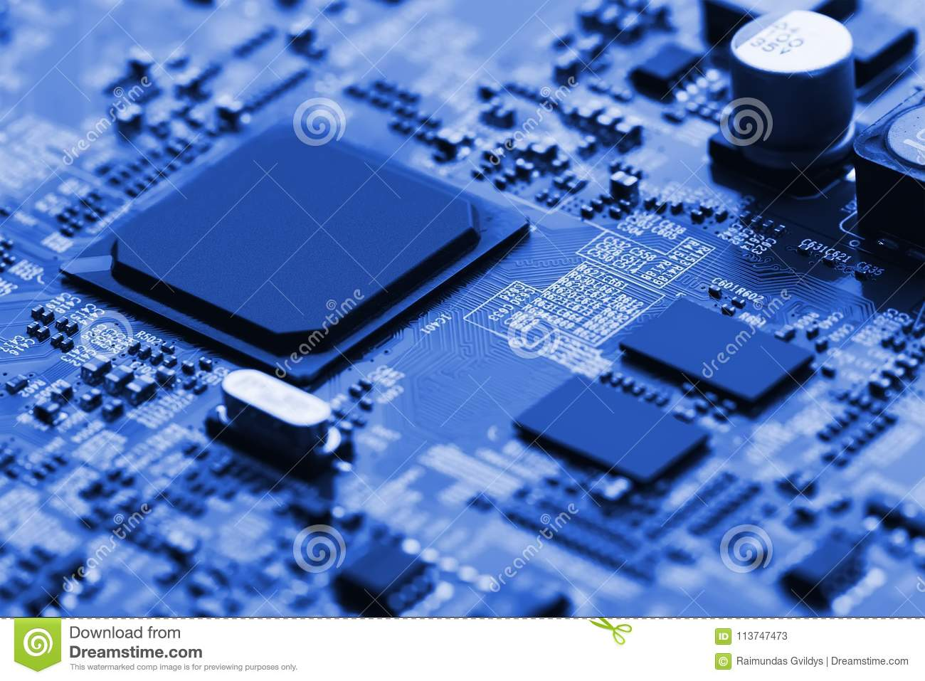 Electronic Circuit Board Close Up Stock Image Of Digital Royalty Free Background From Red Can Use The Internet Print Advertising And Design