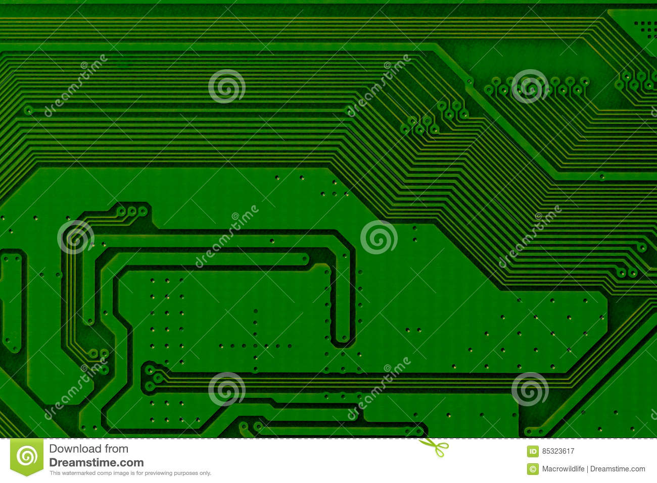 Electronic Circuit Board Close Up Background Can Use The Internet Design Print Advertising And
