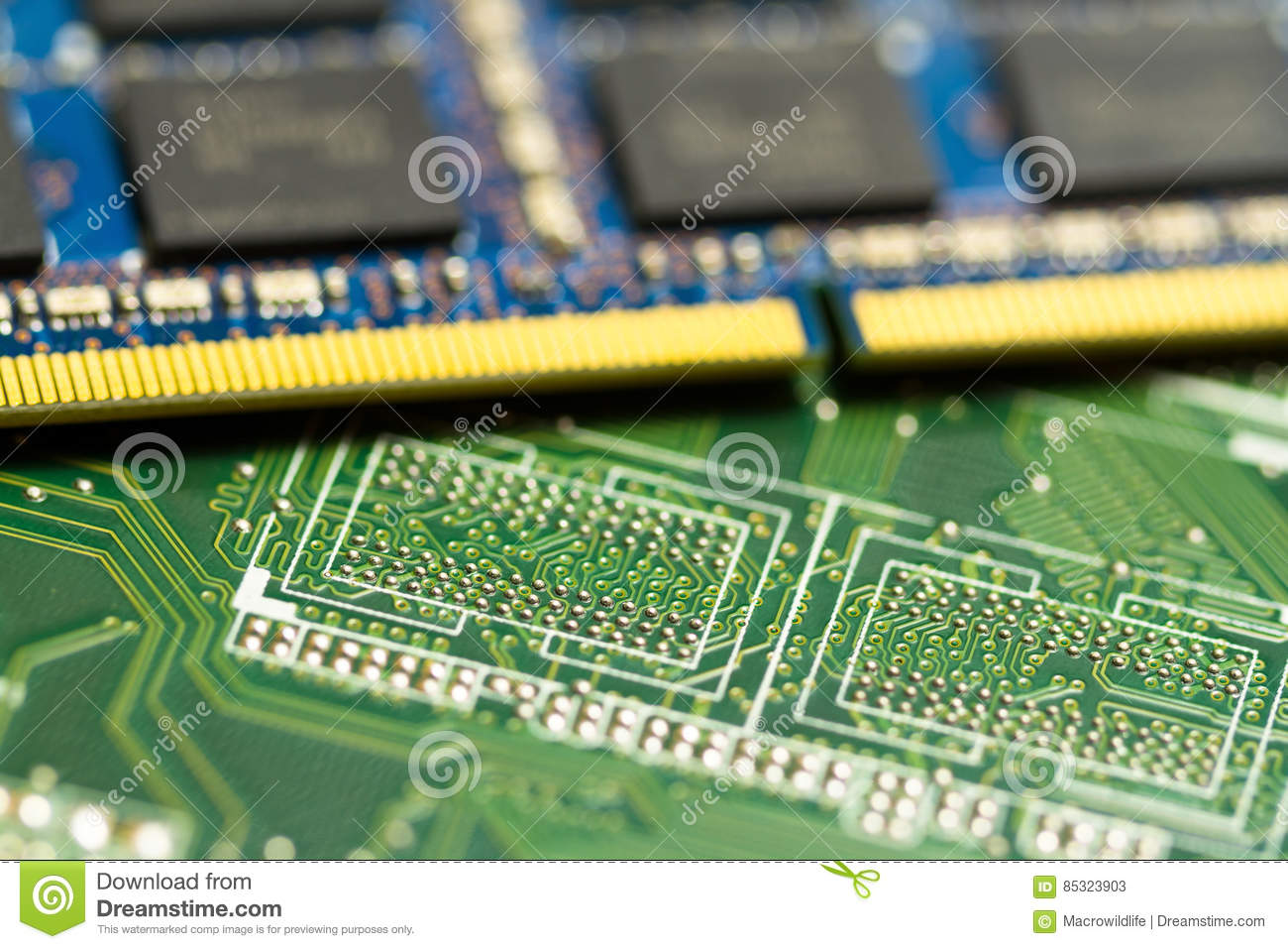 Electronic Circuit Board Close Up Background Can Use The Internet Print Advertising And Design