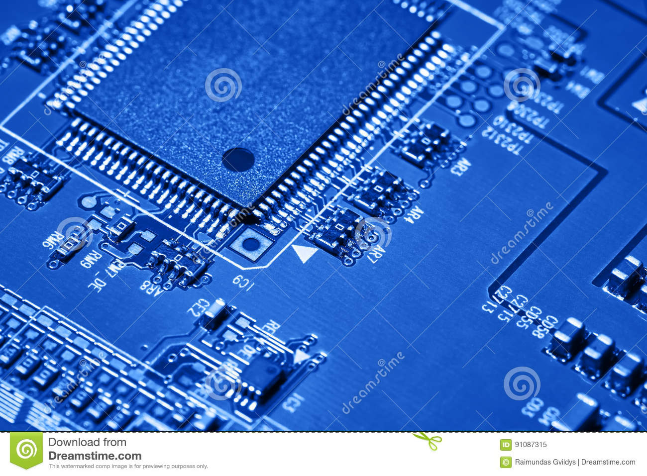 Electronic Circuit Board Close Up Stock Image Of Integrated Photos Background Can Use The Internet Print Advertising And Design