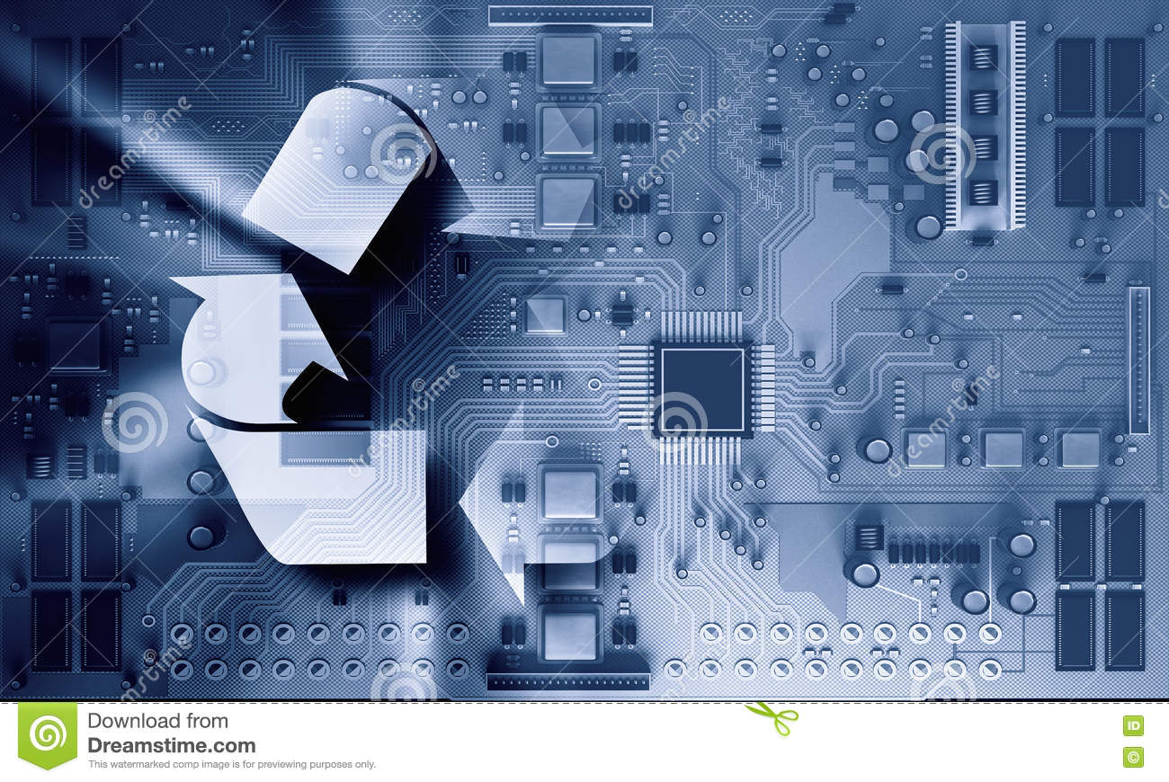Electronic Circuit Board Close Up Mixed Media Stock Photo Image How To Recycle Boards