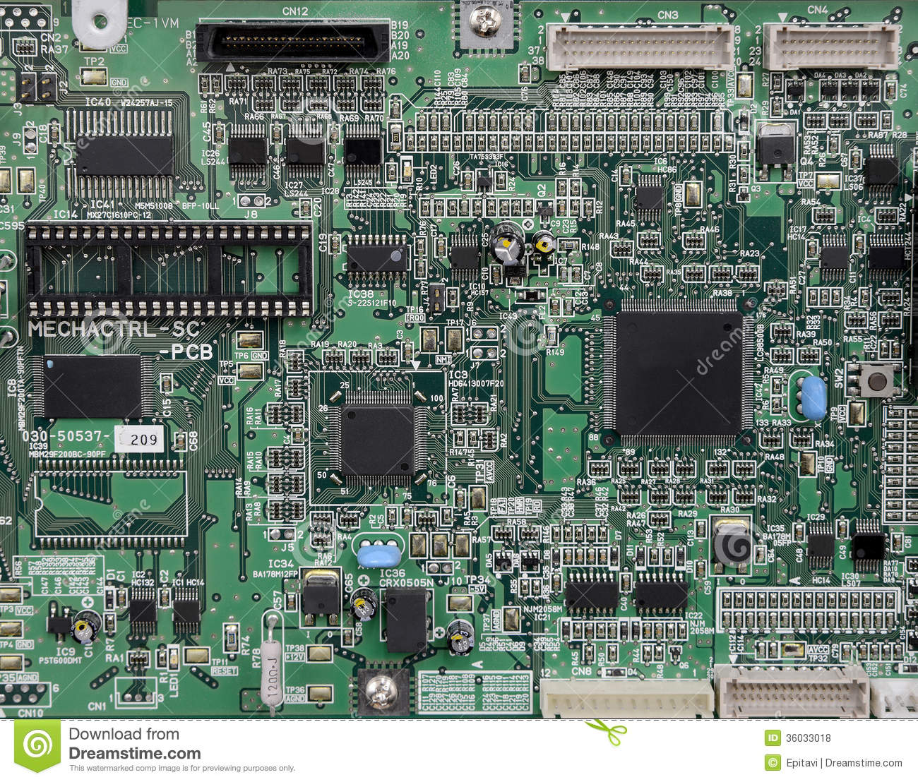 Electronic Circuit Board Stock Photo Image Of Industry 36033018 Stockfoto Printed Pcb Used In Industrial