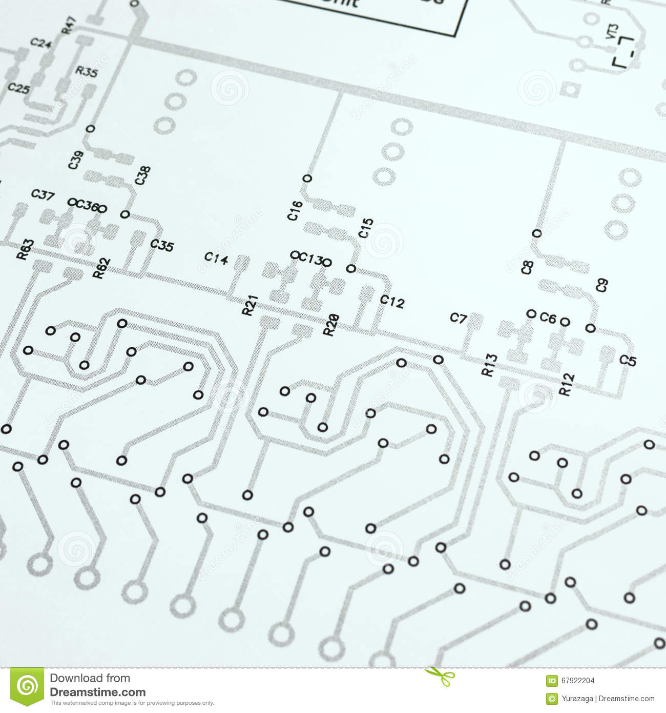 Electronic Circuit Board Schematic Stock Illustration - Illustration ...
