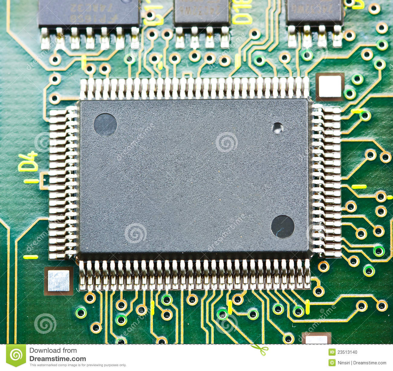 Electronic Circuit Chip On Board Stock Photo Image Of Integrated Closeup