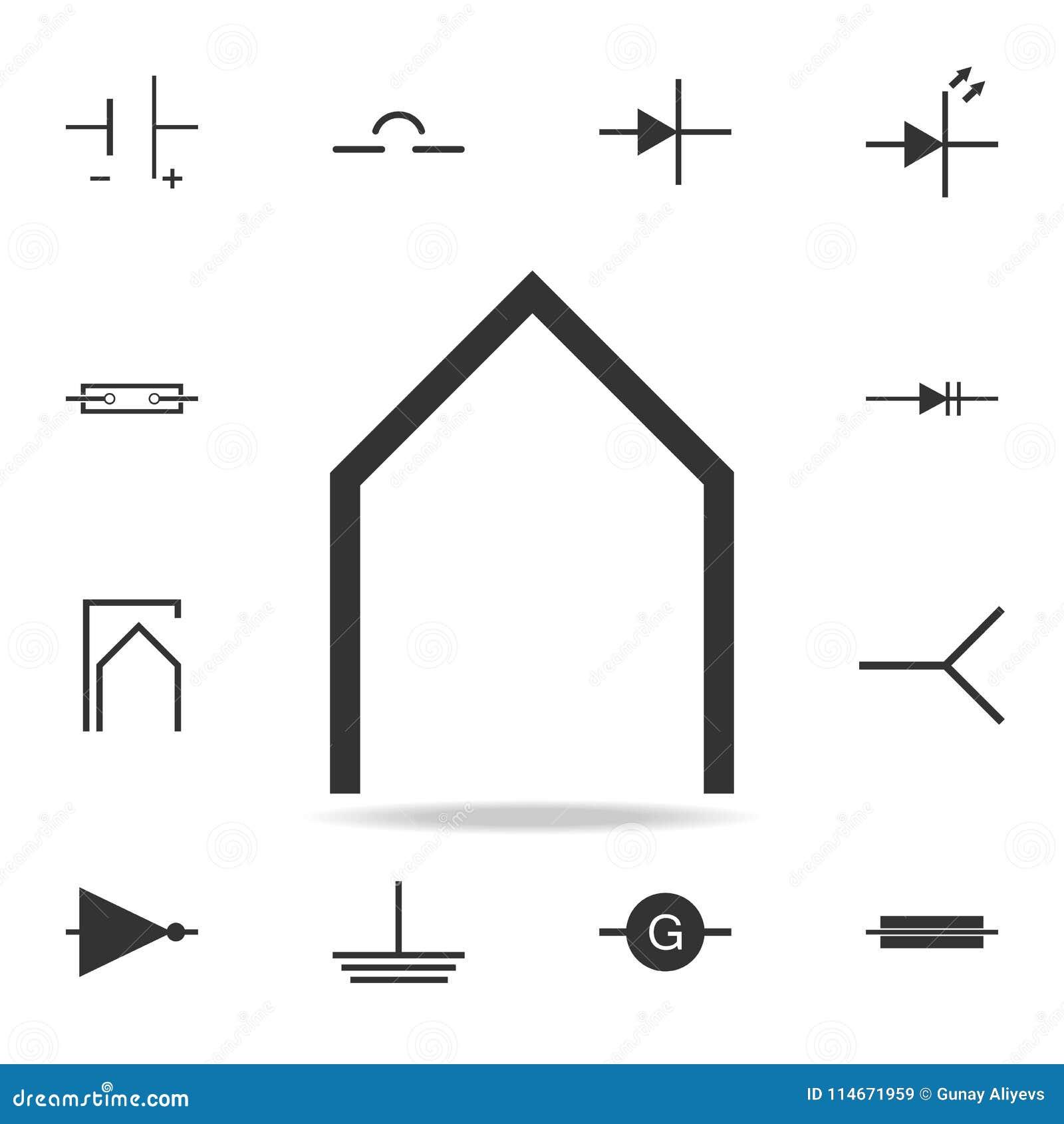 Electronic Circuit Symbol Icon Detailed Set Of Web Icons Premium Diagram Symbols Commonly Used Quality Graphic Design