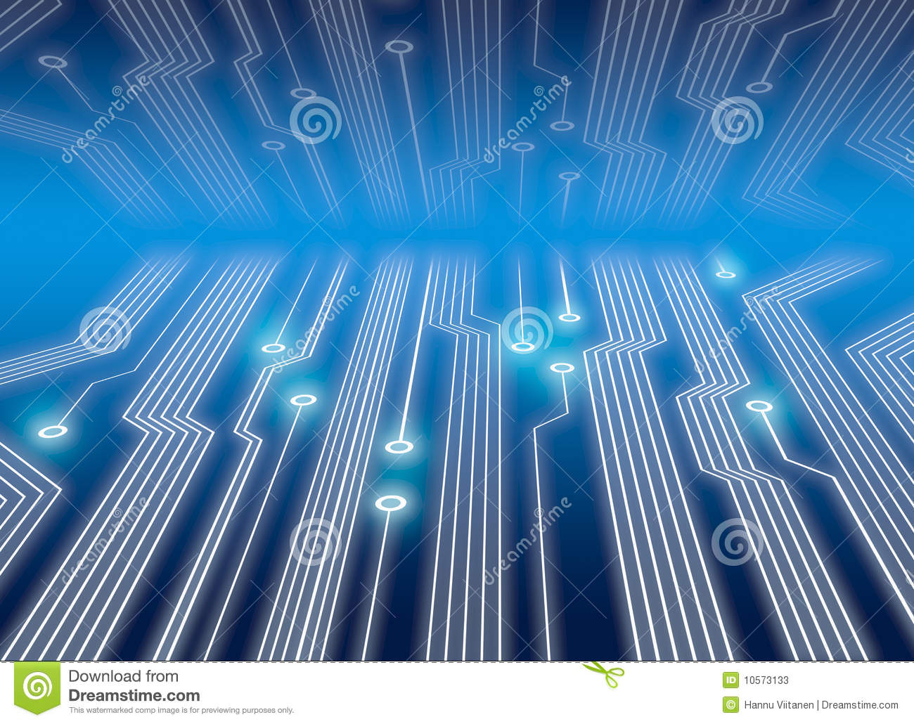 Electronic Circuits In Blue Stock Illustration - Illustration of ...