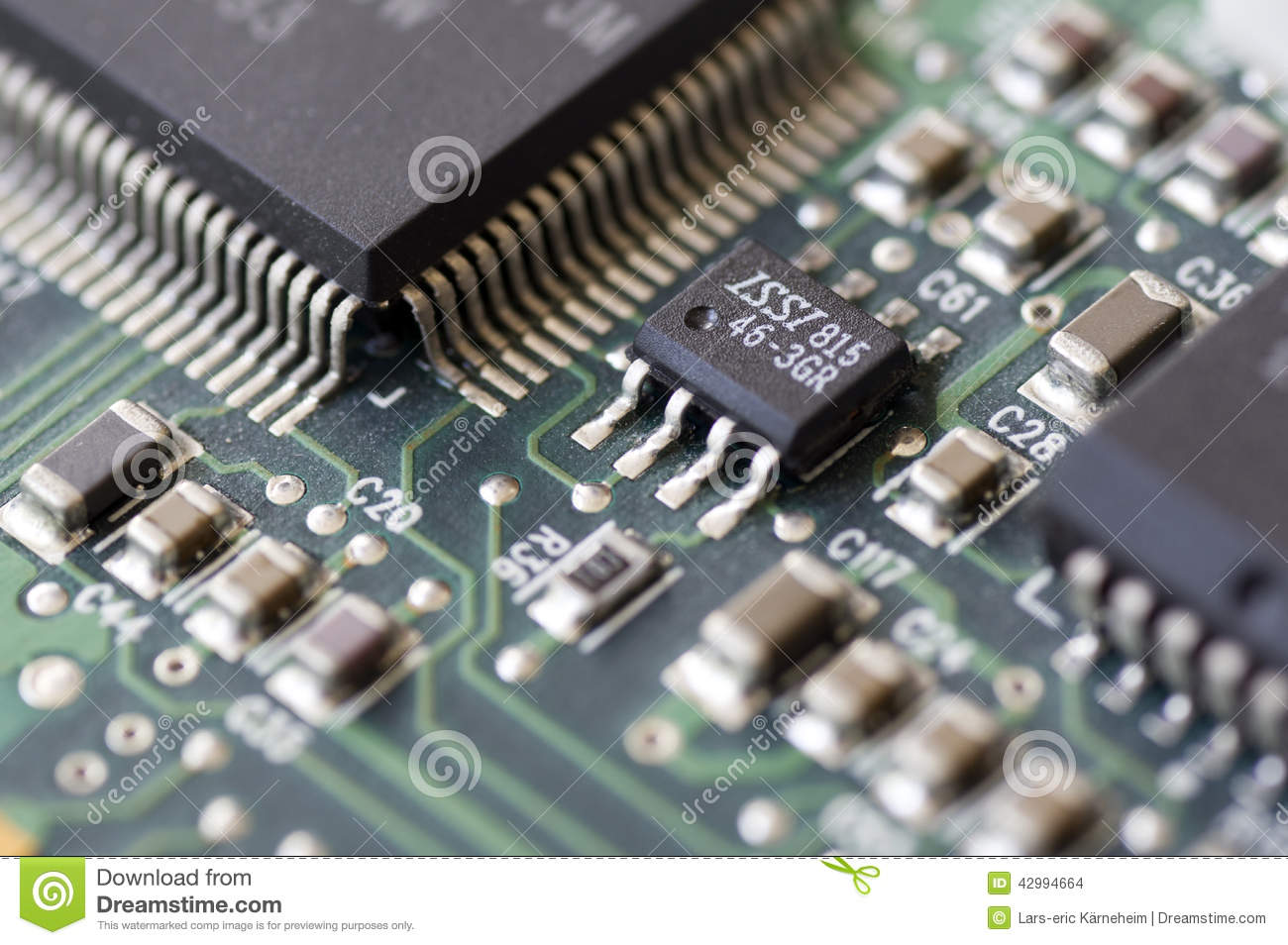 Electronic Circuits Stock Photo Image Of Green Modern 42994664 Integrated Circuit Photos
