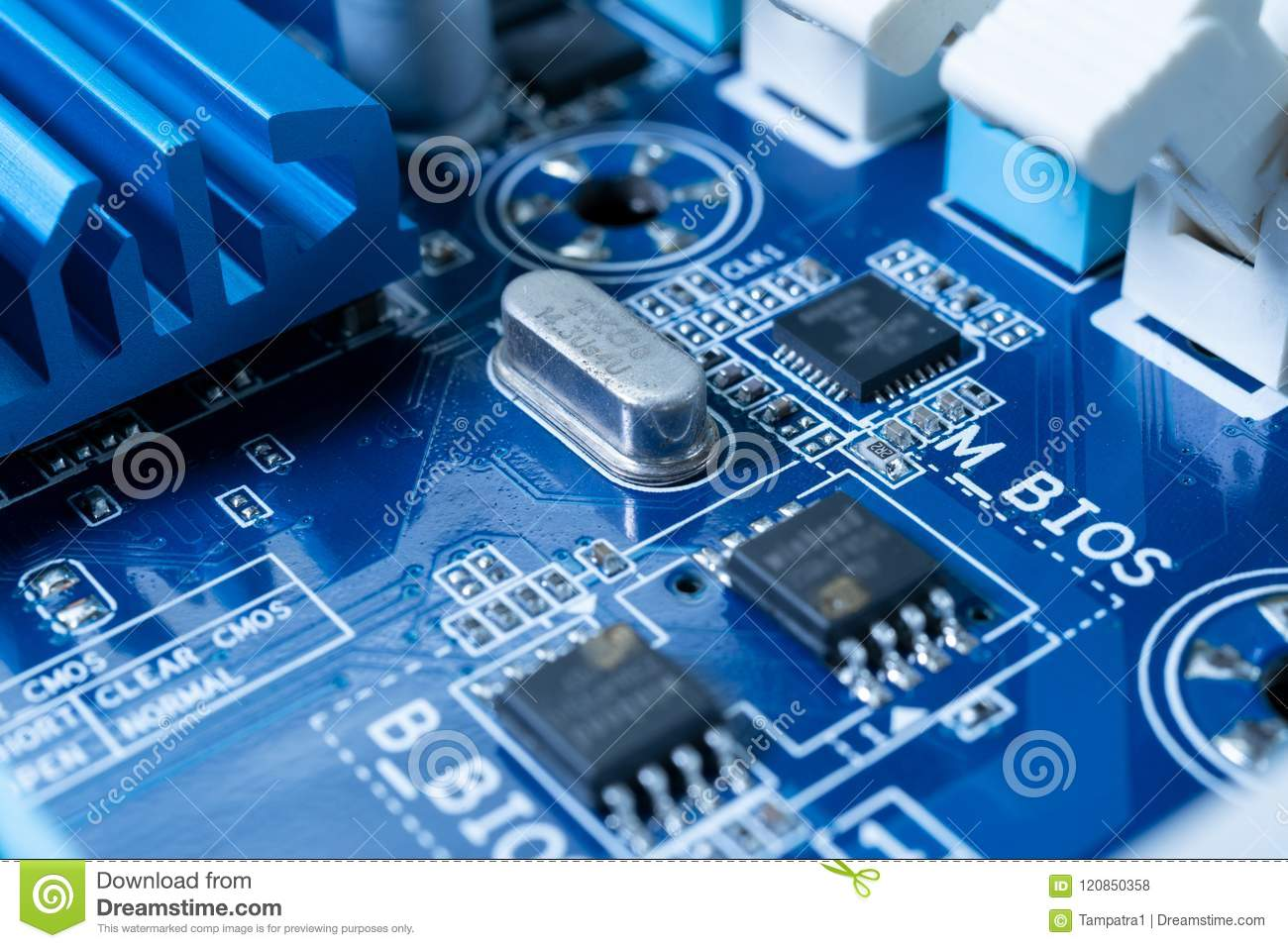 Electronic Circuits In Futuristic Technology Concept Stock Photo Design