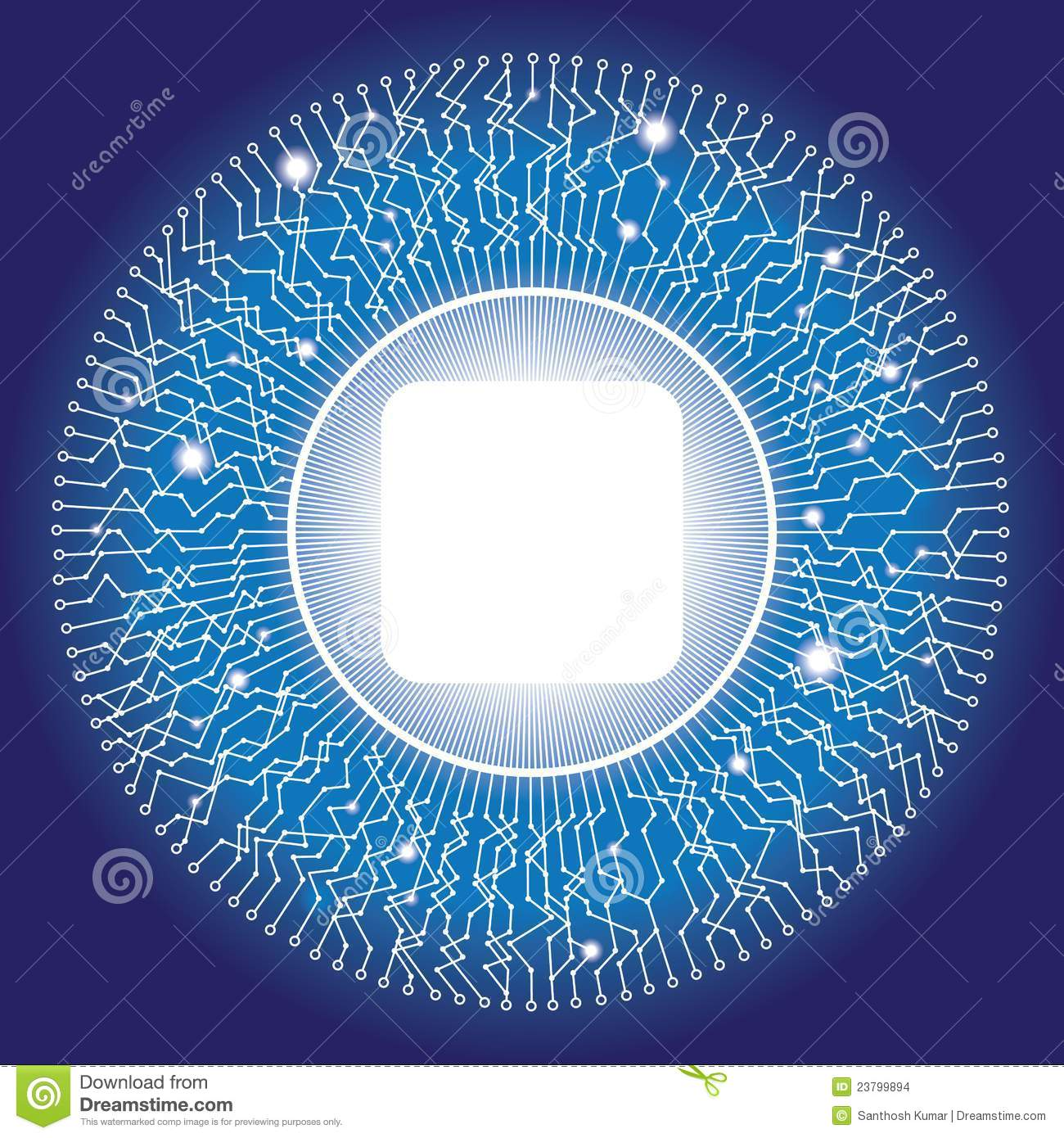 Electronic Circular Circuit Design With Copyspace Stock Vector ...