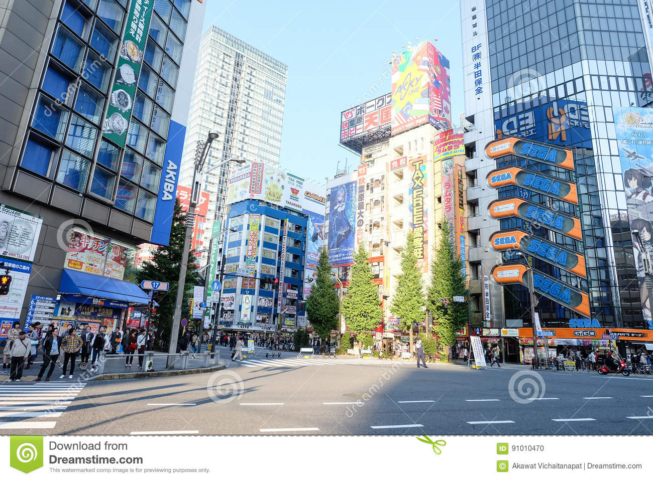 Electronic City Tokyo Japan Editorial Image Image Of Anime Steel 91010470