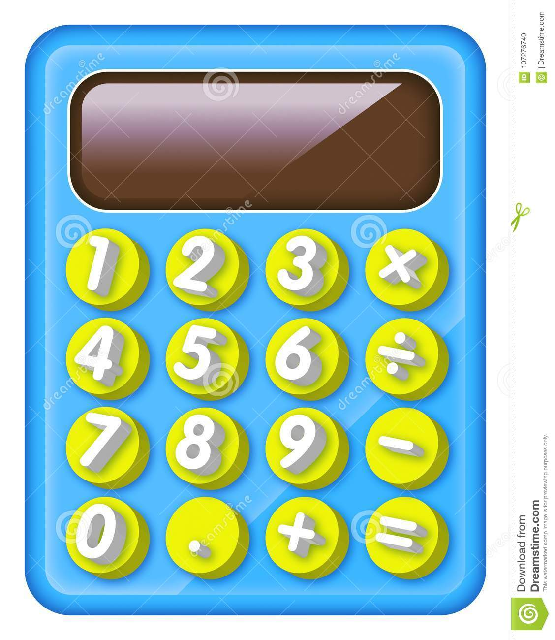Electronic And Colourful Calculator For Kids Stock Illustration Circuitry Of An Royalty Free Photography