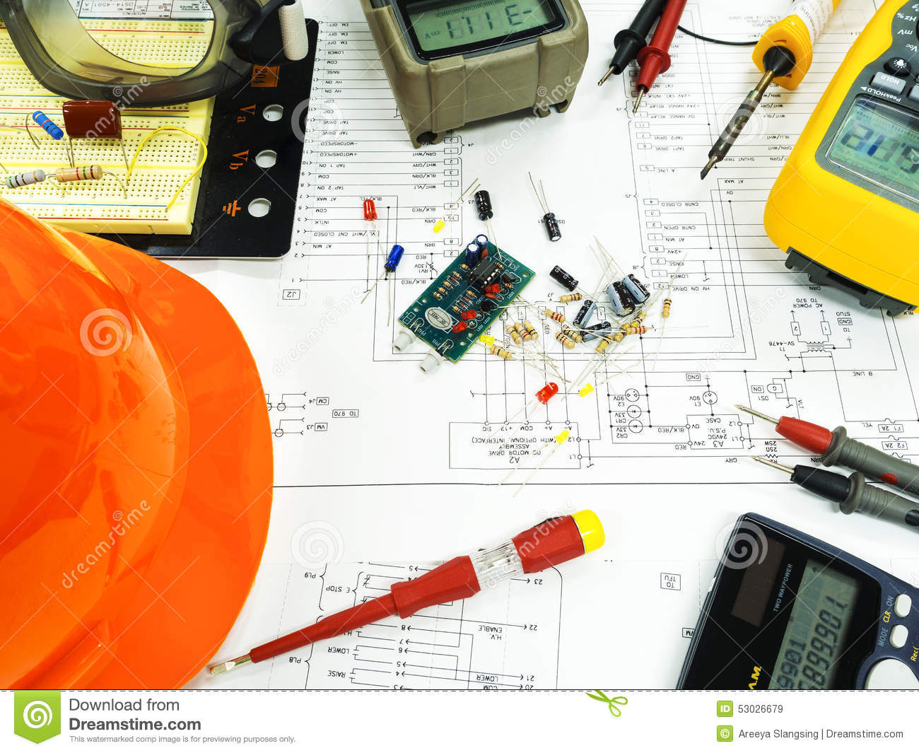 Electronic component on circuit diagram