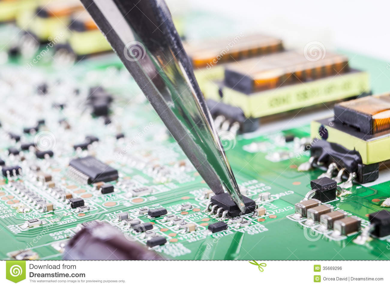 Electronic Component Royalty Free Stock Image  Image  35669296