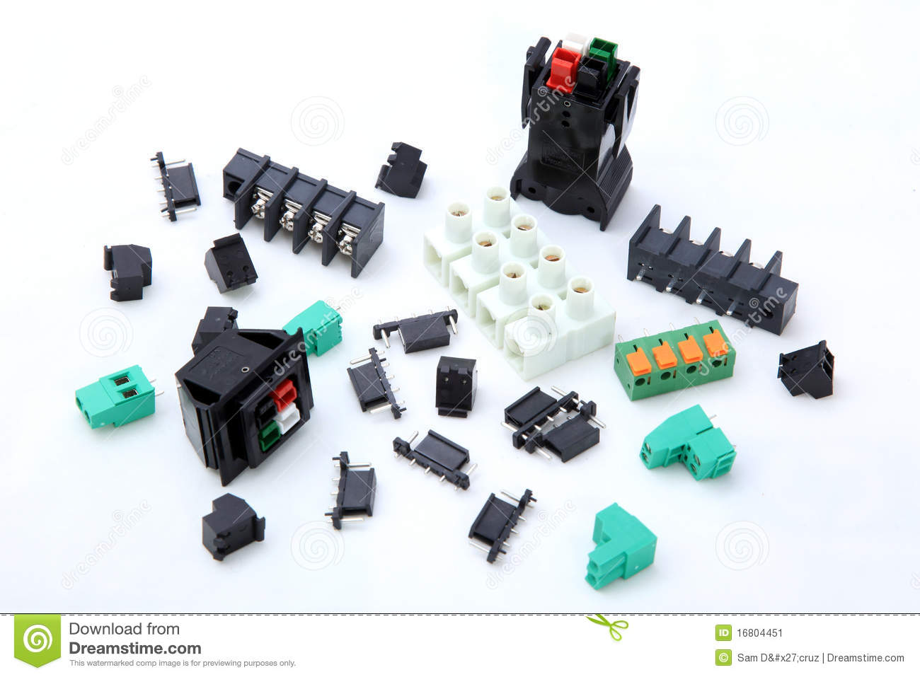 Electronic Components stock image. Image of component ...