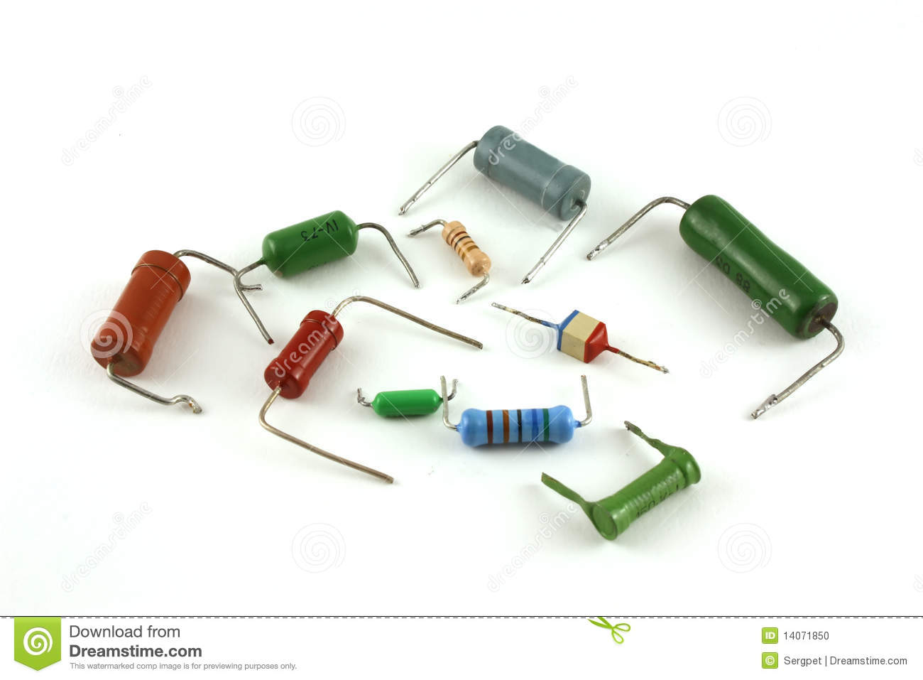 Electronic Components - Resistors Stock Photo - Image ...