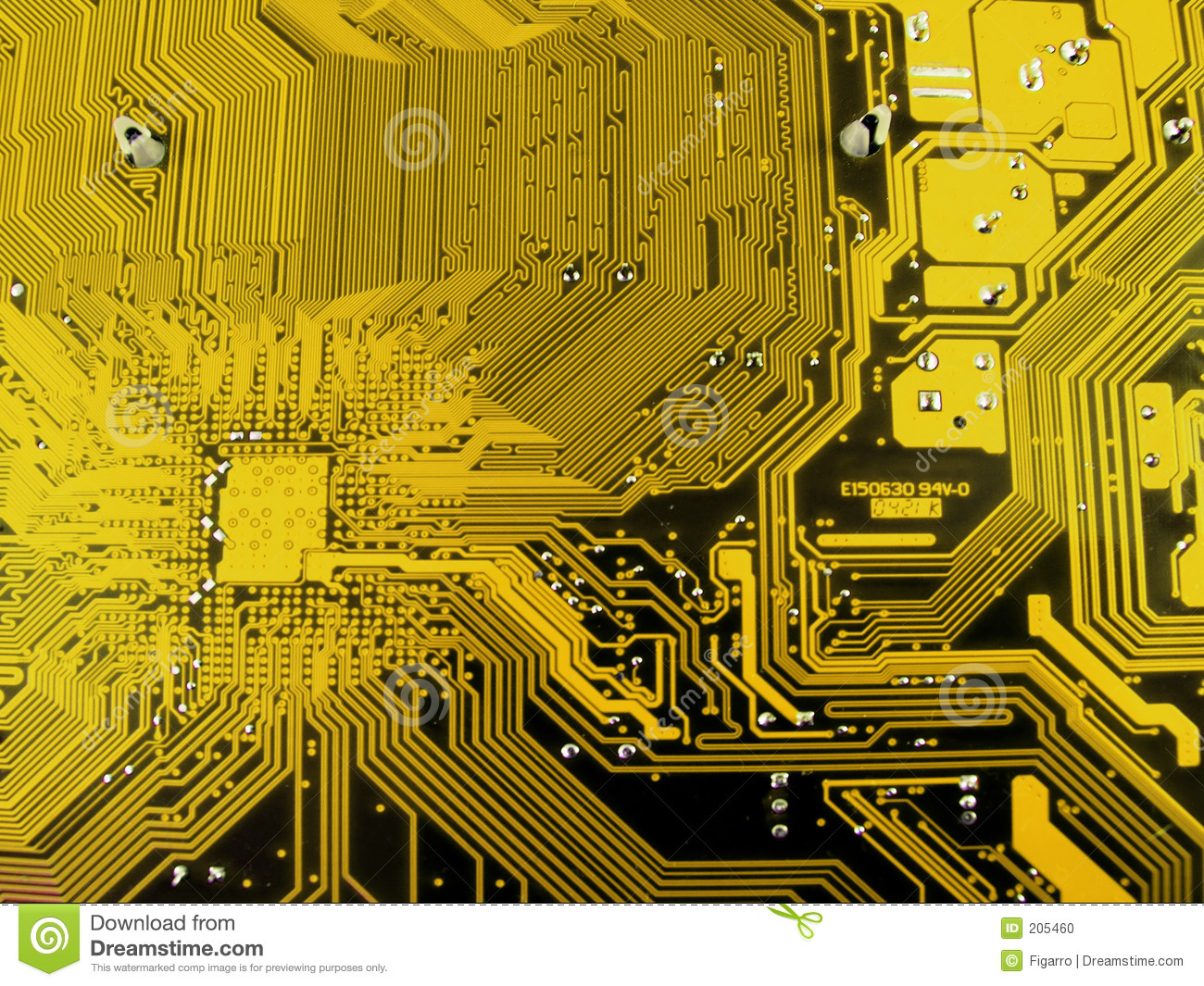 electronic computer circuit board stock photo