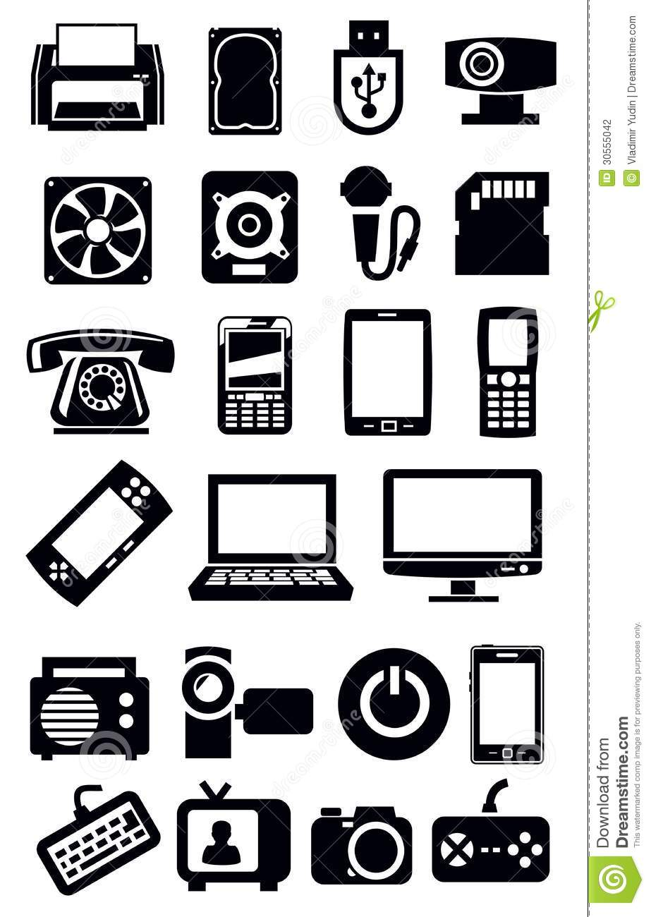electronic devices icon stock vector  illustration of